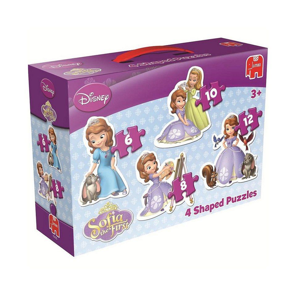 Jumbo Disney Sofia die Erste 4in1 Konturenpuzzle 6/8/10/12 Teile