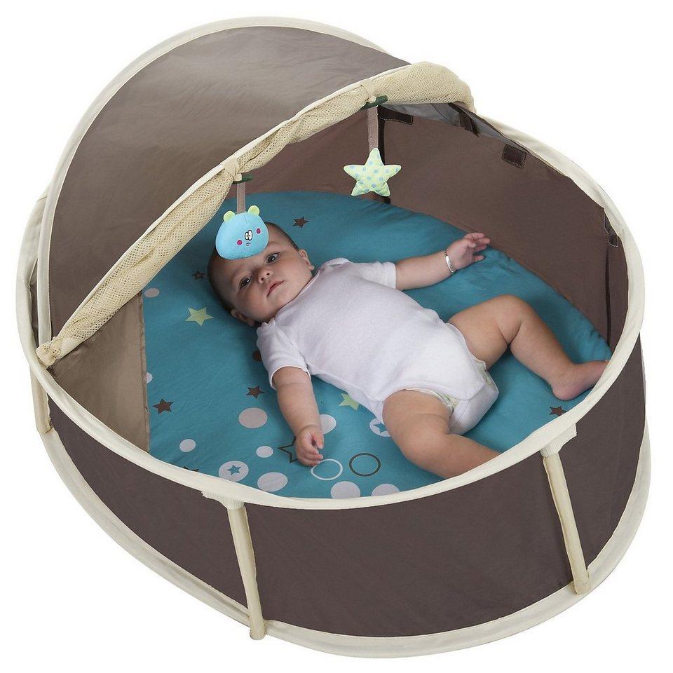 Babymoov Pop-up Babybett Babyni 2 in 1 mit UV-Schutz, klein, braun in braun