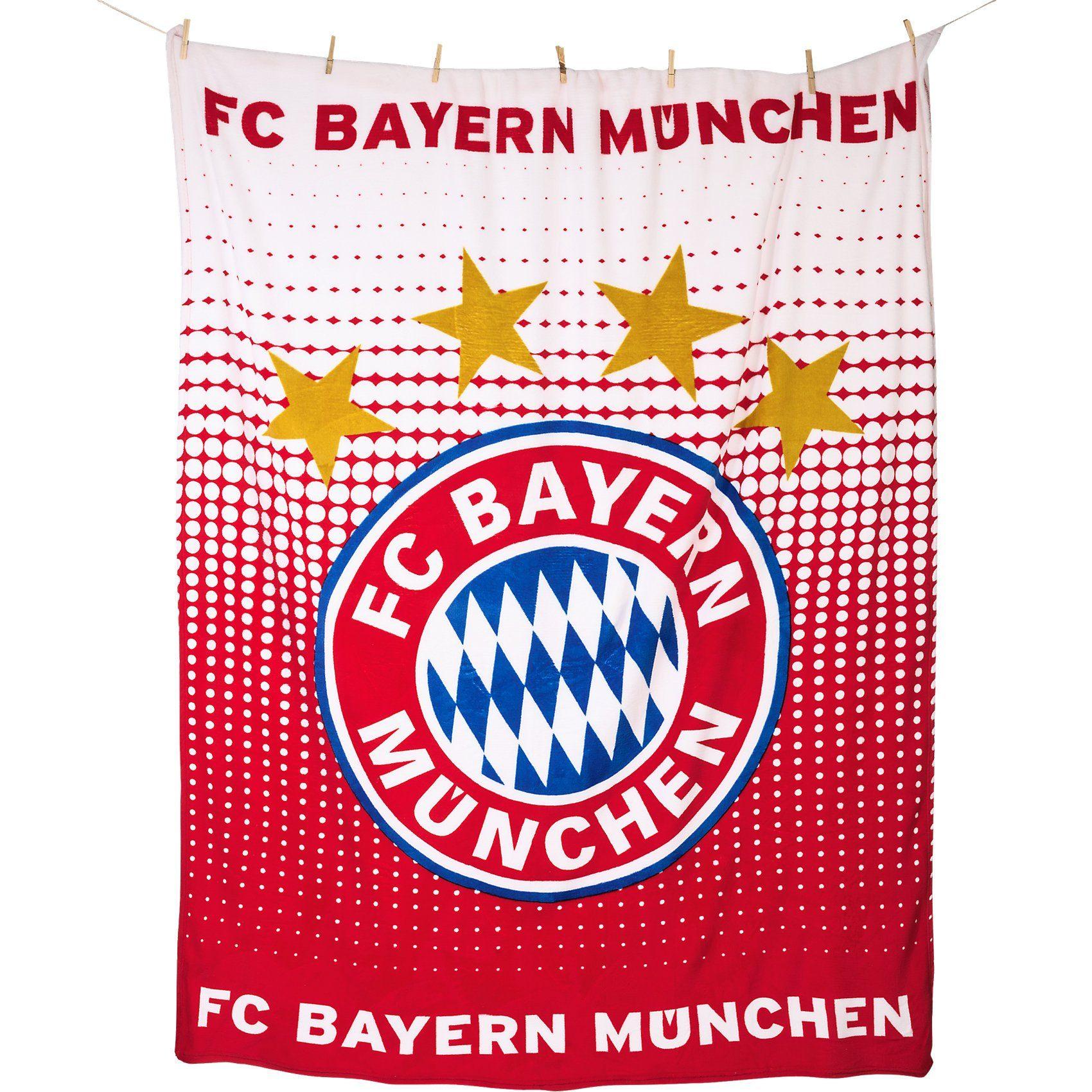 Kuscheldecke FC Bayern München Logo, 150 x 200 cm
