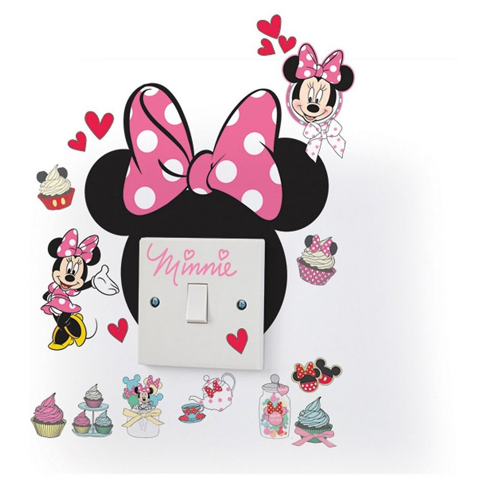 worlds apart leucht sticker minnie mouse 20 tlg otto. Black Bedroom Furniture Sets. Home Design Ideas