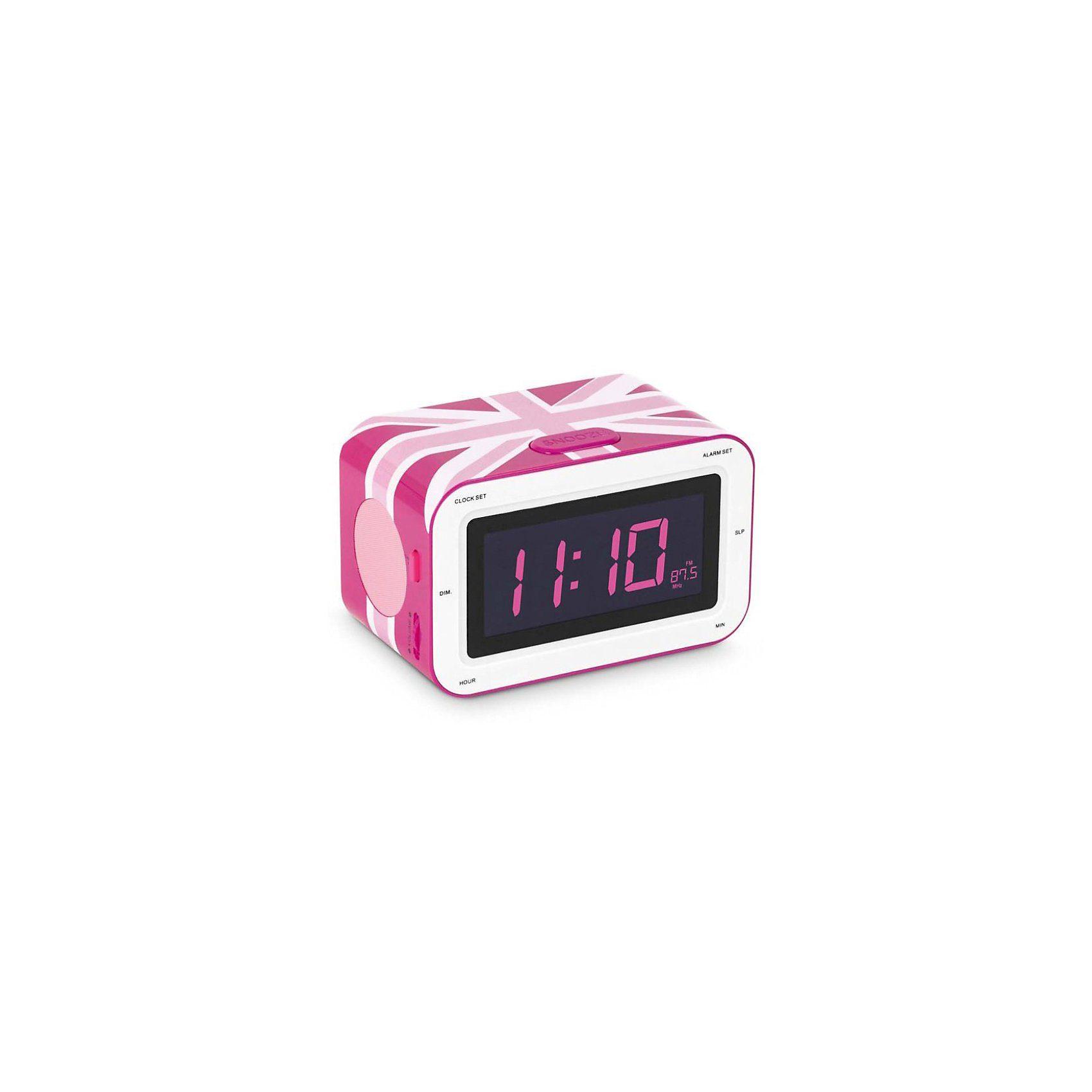bigben Radiowecker RR30 Union Jack, pink