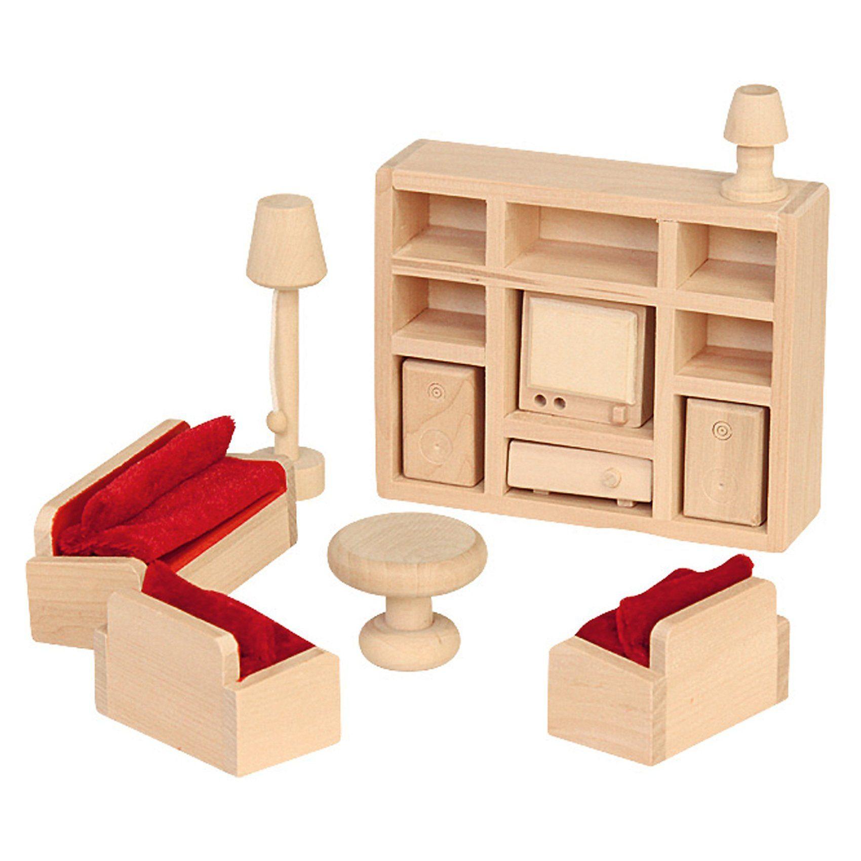 Beluga Puppenhausmöbel Wohnzimmer Holz