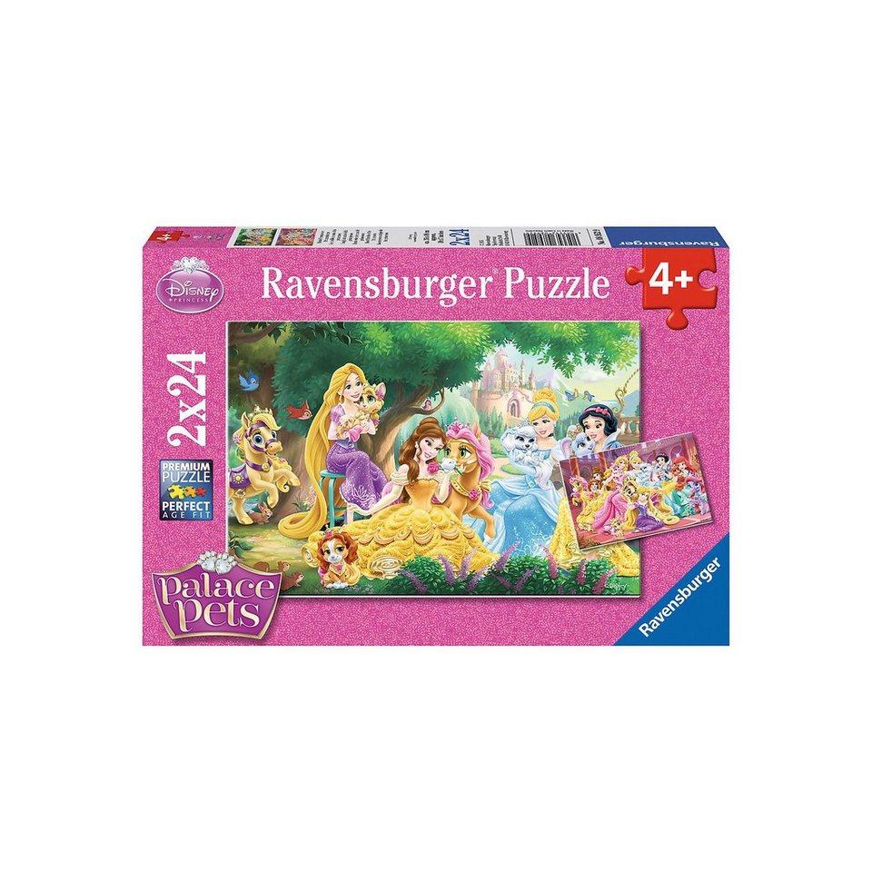 Ravensburger 2x24 Teile Disney Palace Pets Beste Freunde der Prinzessinne