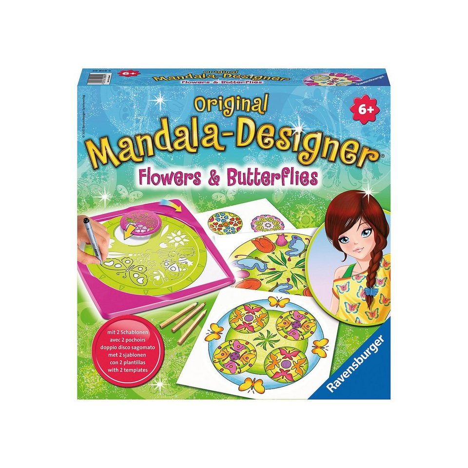 Ravensburger Mandala Designer® Midi Flowers and Butterflies