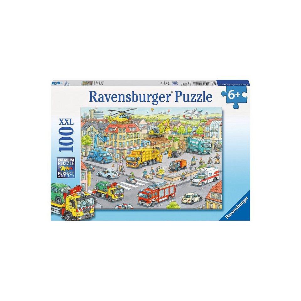 Ravensburger 100 Teile XXL Fahrzeuge in der Stadt