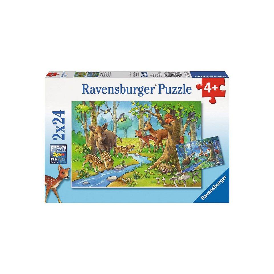 Ravensburger 2x24 Teile Tiere des Waldes