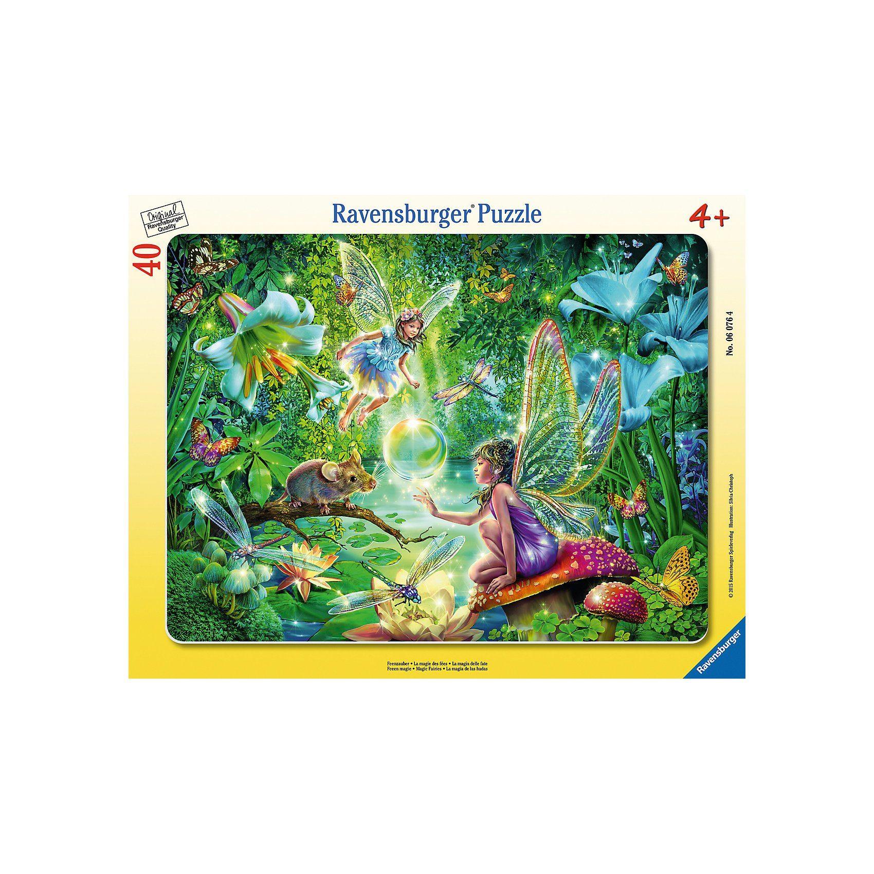 Ravensburger 40 Teile Rahmenpuzzle Feenzauber
