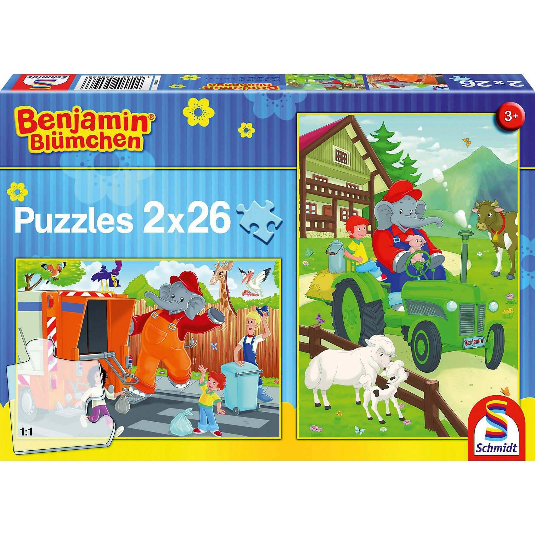 Schmidt Spiele Benjamin Blümchen, Benjamin in Aktion, 2x26 Teile
