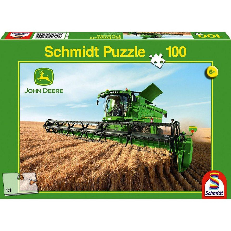 Schmidt Spiele John Deere, Mähdrescher S690, 100 Teile