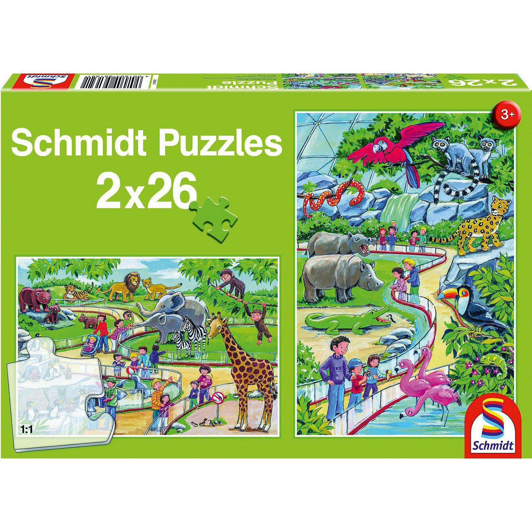 Schmidt Spiele Ein Tag im Zoo, 2 x 26 Teile