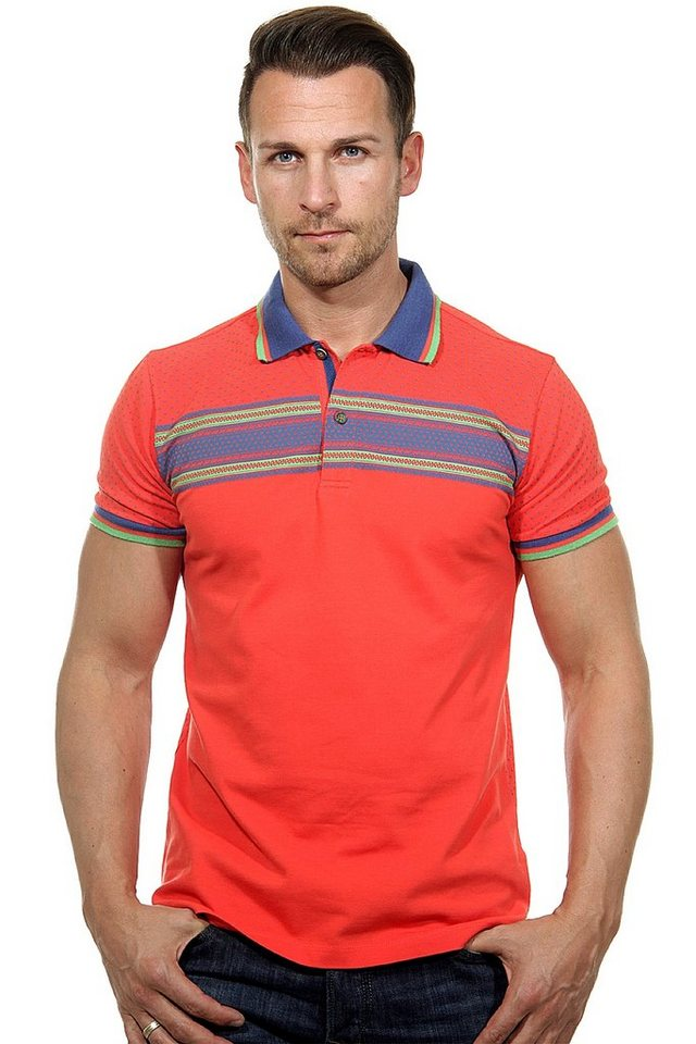 MCL Poloshirt slim fit in korall