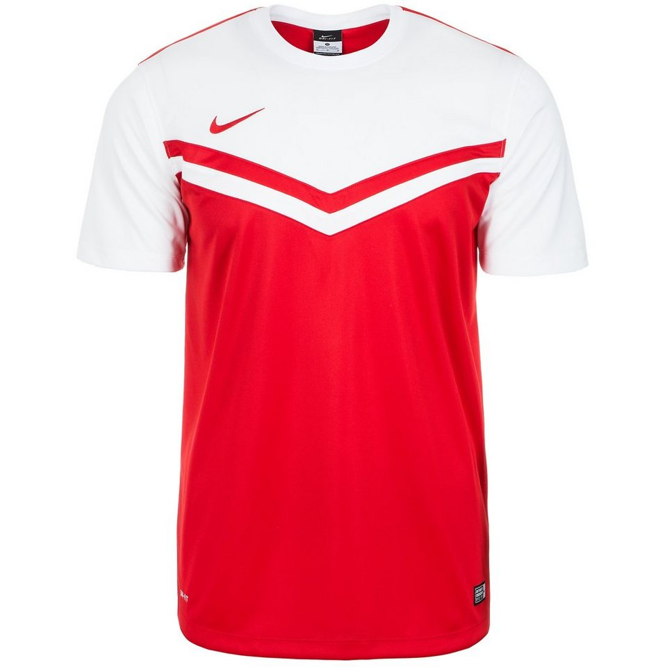 NIKE Victory II Fußballtrikot Herren in rot / weiß
