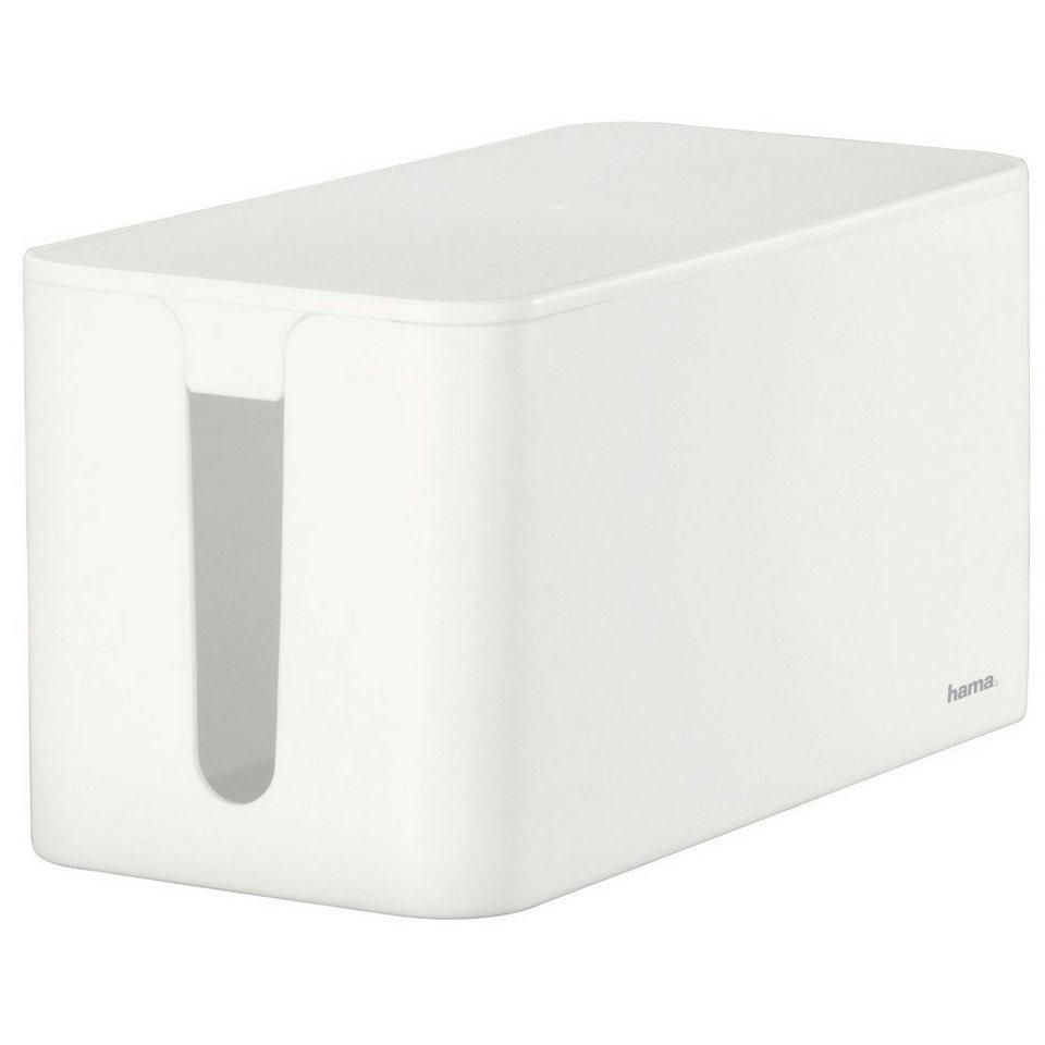Hama Kabelbox Mini, Weiß in Weiß