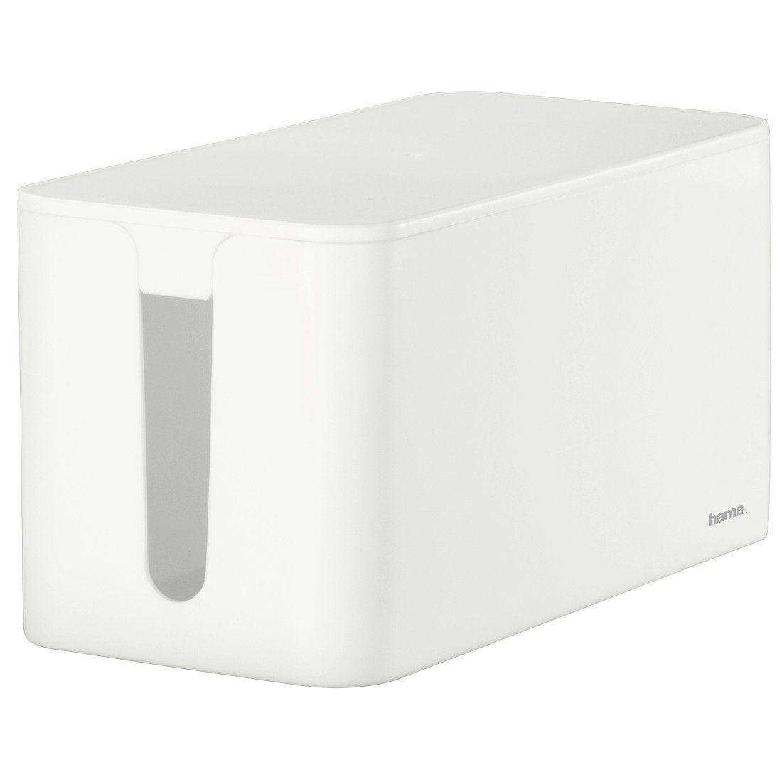 Hama Kabelbox Mini, Weiß