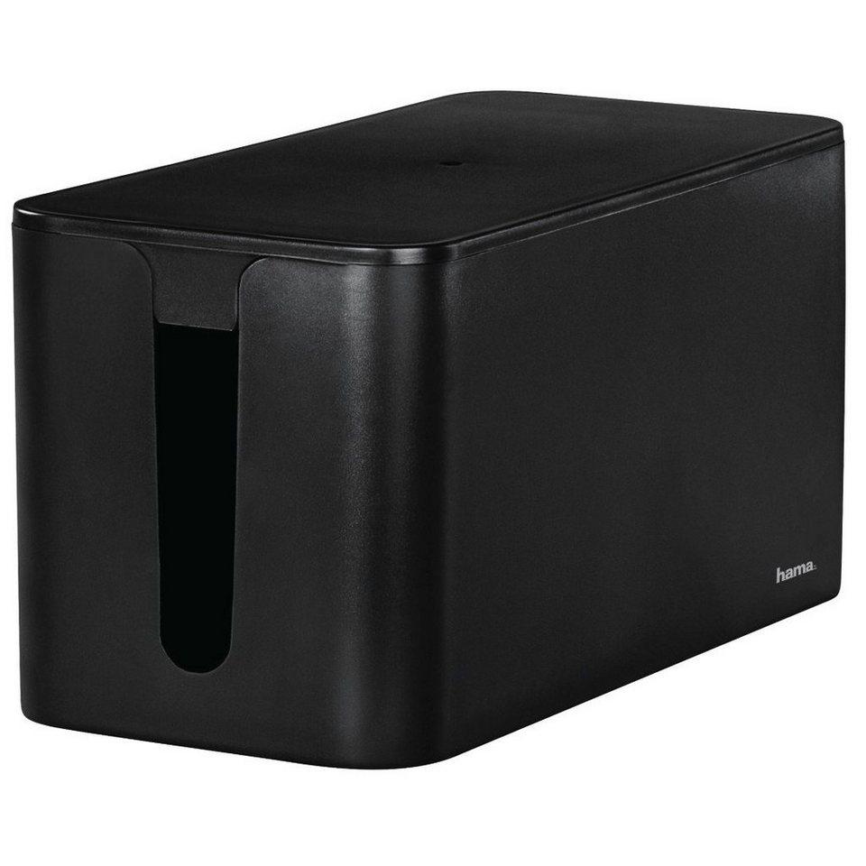 Hama Kabelbox Mini, Schwarz in Schwarz