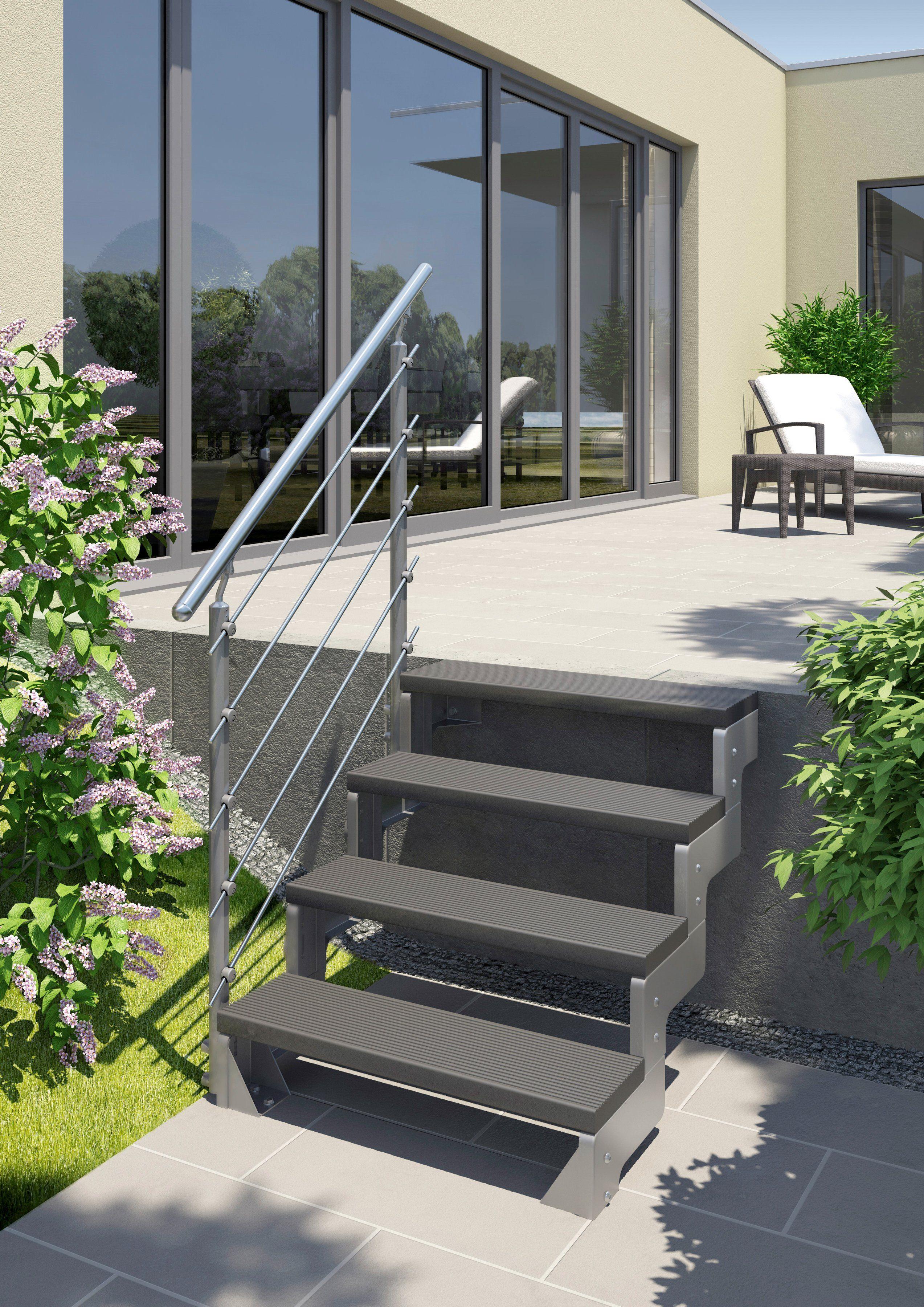 Dolle Außentreppe »Gardentop«, Startset für 2 Stufen