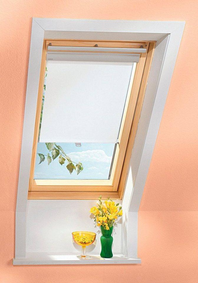 Sichtschutzrollo in rustik für Festergröße: 204/206 in weiß