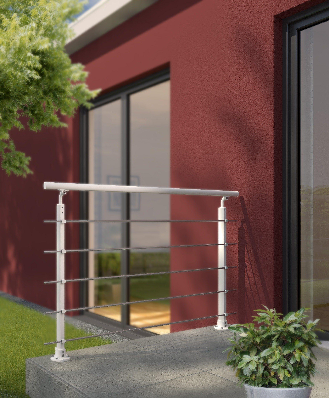 DOLLE Geländersystem »Prova«, Aluminium weiß