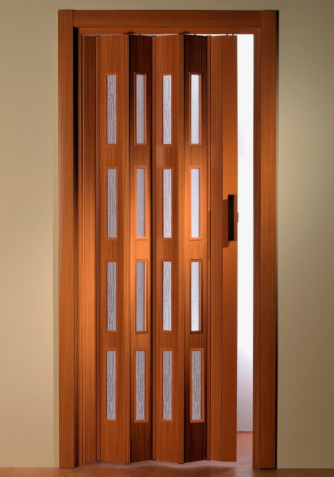 Türerweiterung , Zusatz-Lamelle für Falttür »Luciana«, buchefarben + Fenster in natur