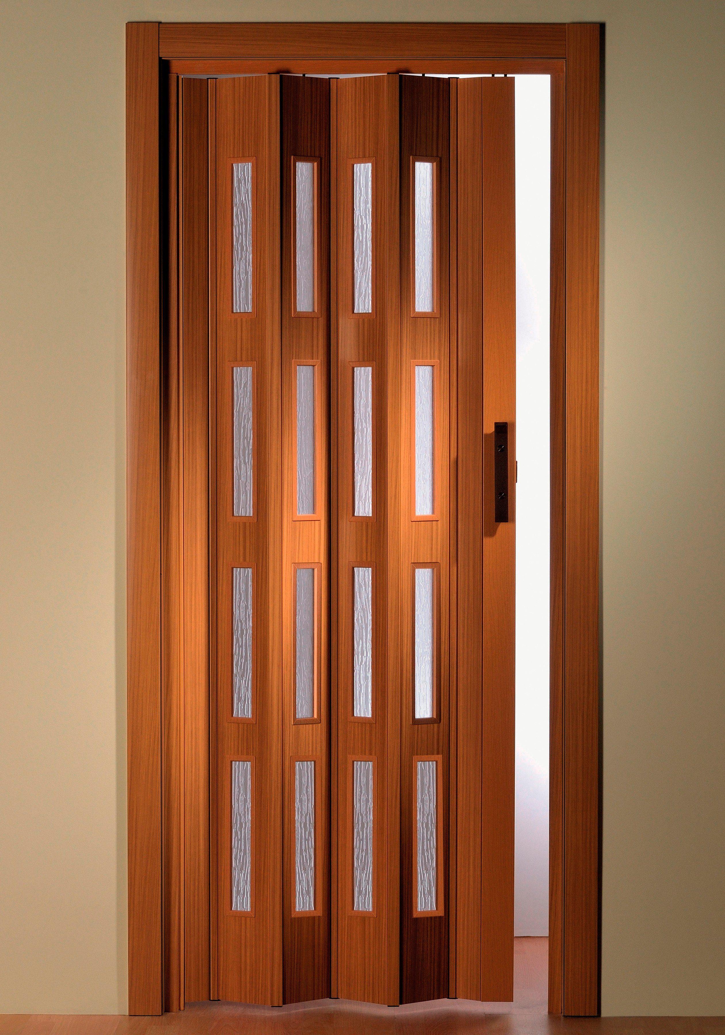 Türerweiterung , Zusatz-Lamelle für Falttür »Luciana«, buchefarben + Fenster