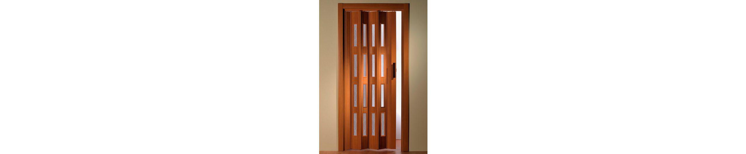 Türerweiterung für Falttür »Luciana« Höhe nach Maß, buchefarben (mit Fenster)