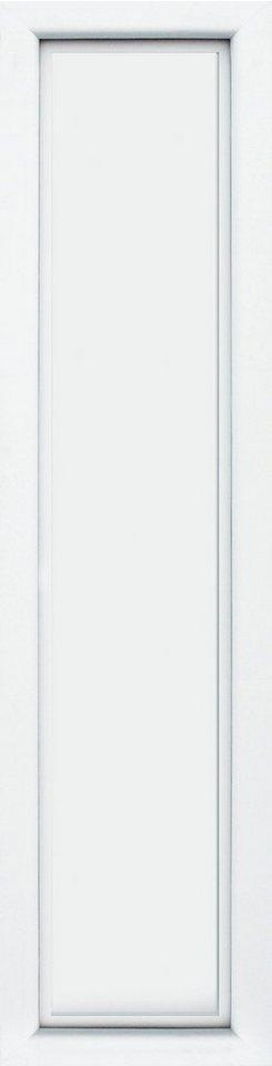 KM MEETH ZAUN GMBH Seitenteile »S04«, für Alu-Haustür, BxH: 60x198 cm, weiß in weiß