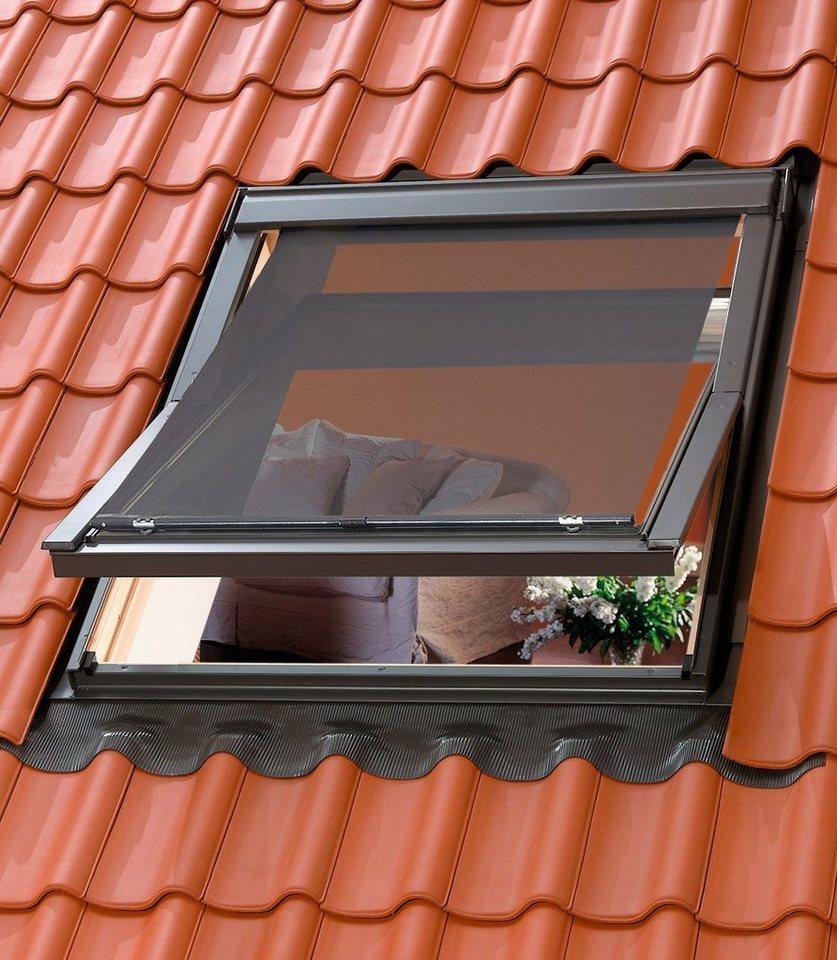 Hitzeschutzmarkise für Dachfenstergröße: UK04, UK08, UK10, U04, U08, U10, 808, 810 in schwarz