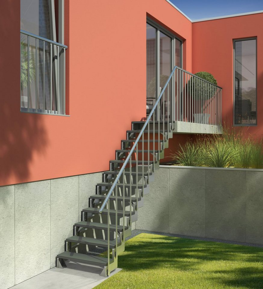 Treppengeländer »Gardentop Set 3« in silberfarben