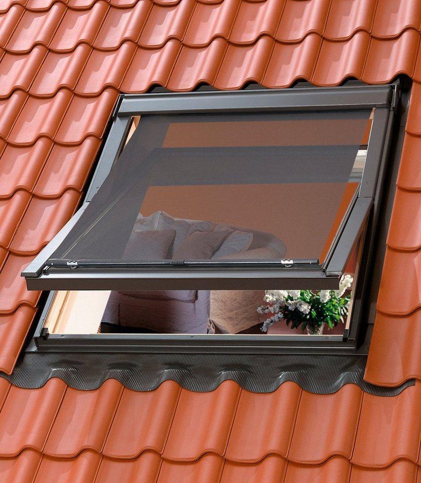 Hitzeschutzmarkise für Dachfenstergröße: FK04, FK06, FK08, F04, F06, F08 in schwarz