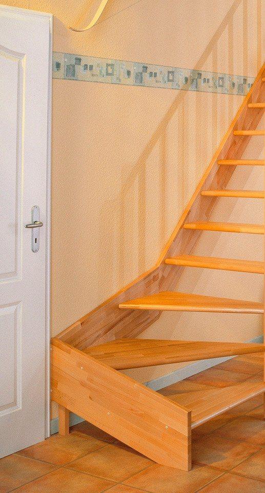DOLLE Raumspartreppe »Paris«, Buche, offene Setzstufen, versch. Ausführungen | Baumarkt > Leitern und Treppen > Treppen | Dolle