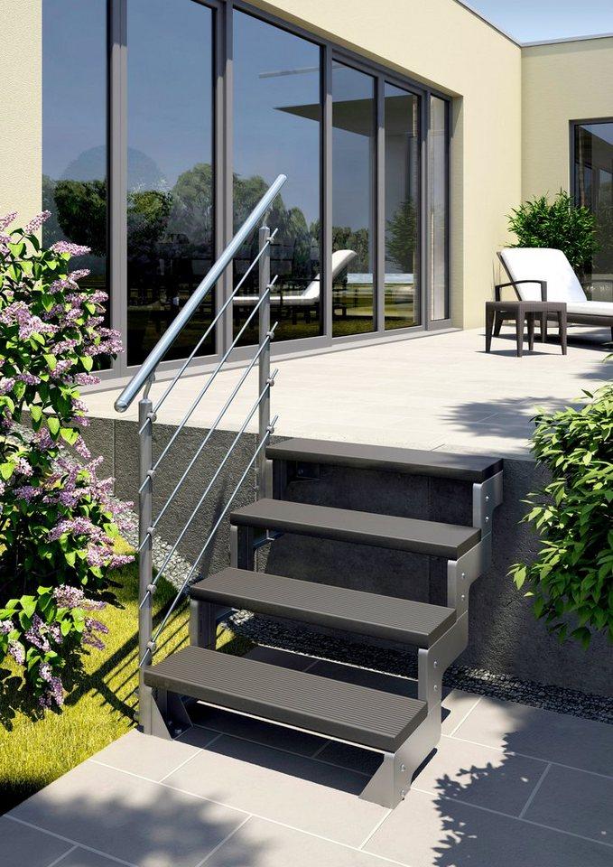Treppengeländer »Gardentop Set 4« in silberfarben