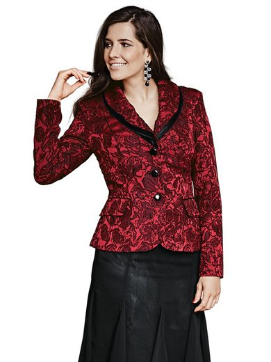 ASHLEY BROOKE by Heine Jacquard-Blazer Blütenmuster