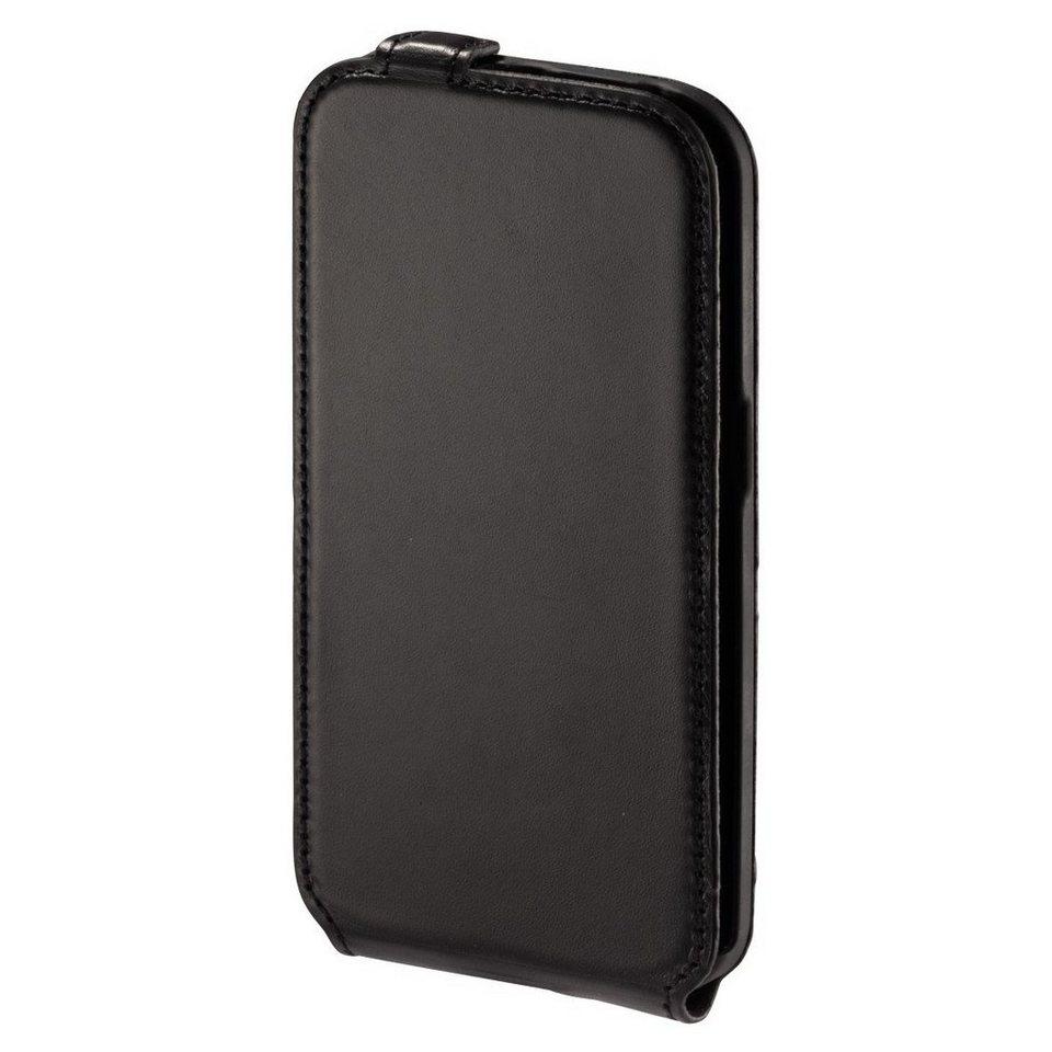Hama Smart Case Prime Line für Samsung Galaxy S6 Edge, Nappa-Schwarz in Schwarz