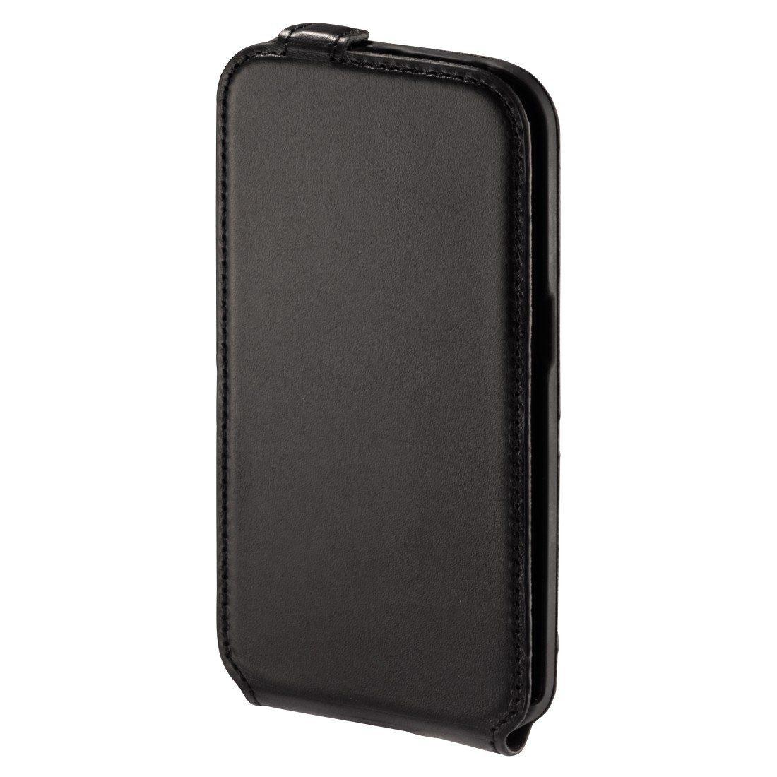 Hama Smart Case Prime Line für Samsung Galaxy S6 Edge, Nappa-Schwarz