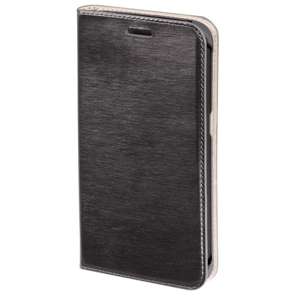 Hama Booklet Slim für Samsung Galaxy S6 Edge, Dunkelgrau in Grau