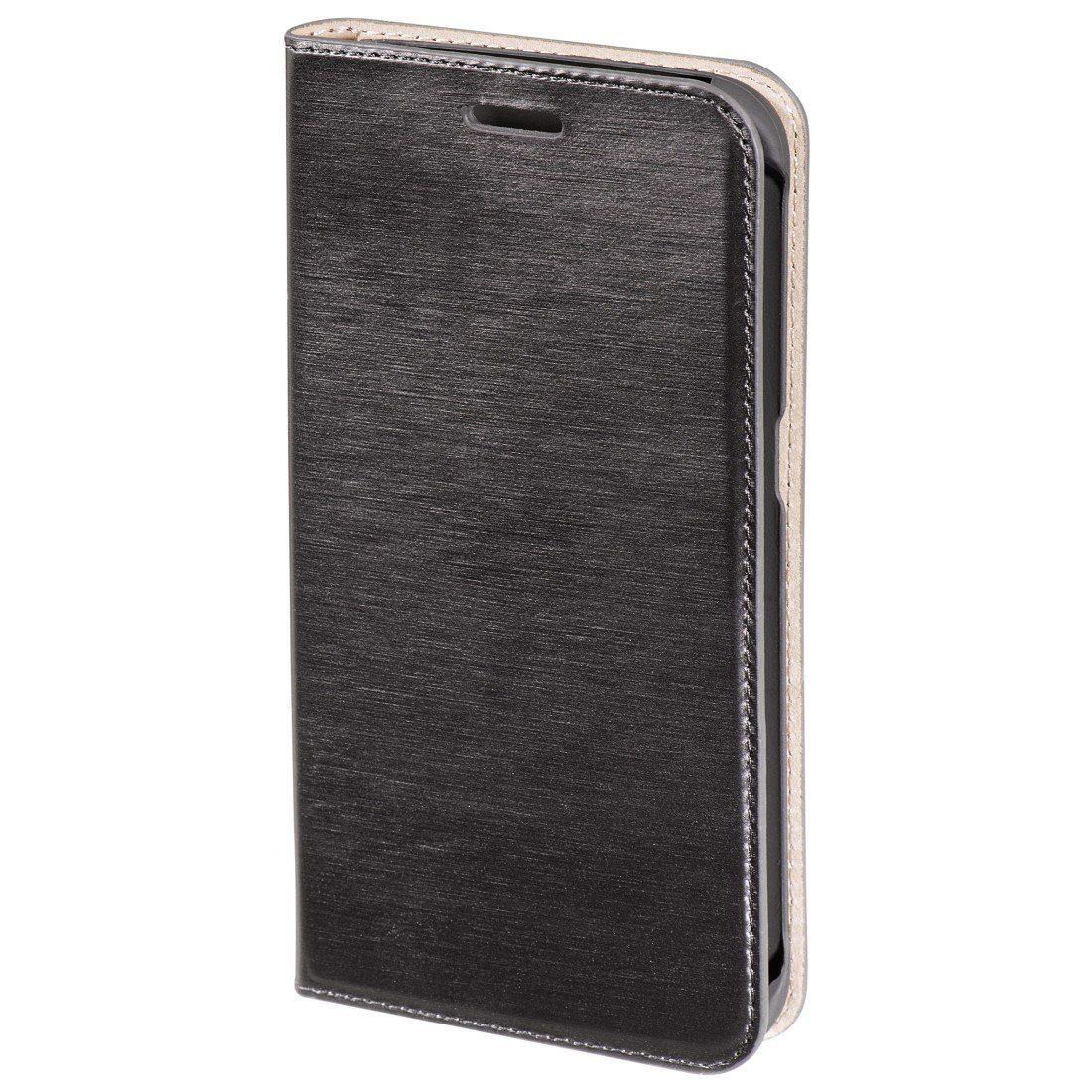 Hama Booklet Slim für Samsung Galaxy S6 Edge, Dunkelgrau