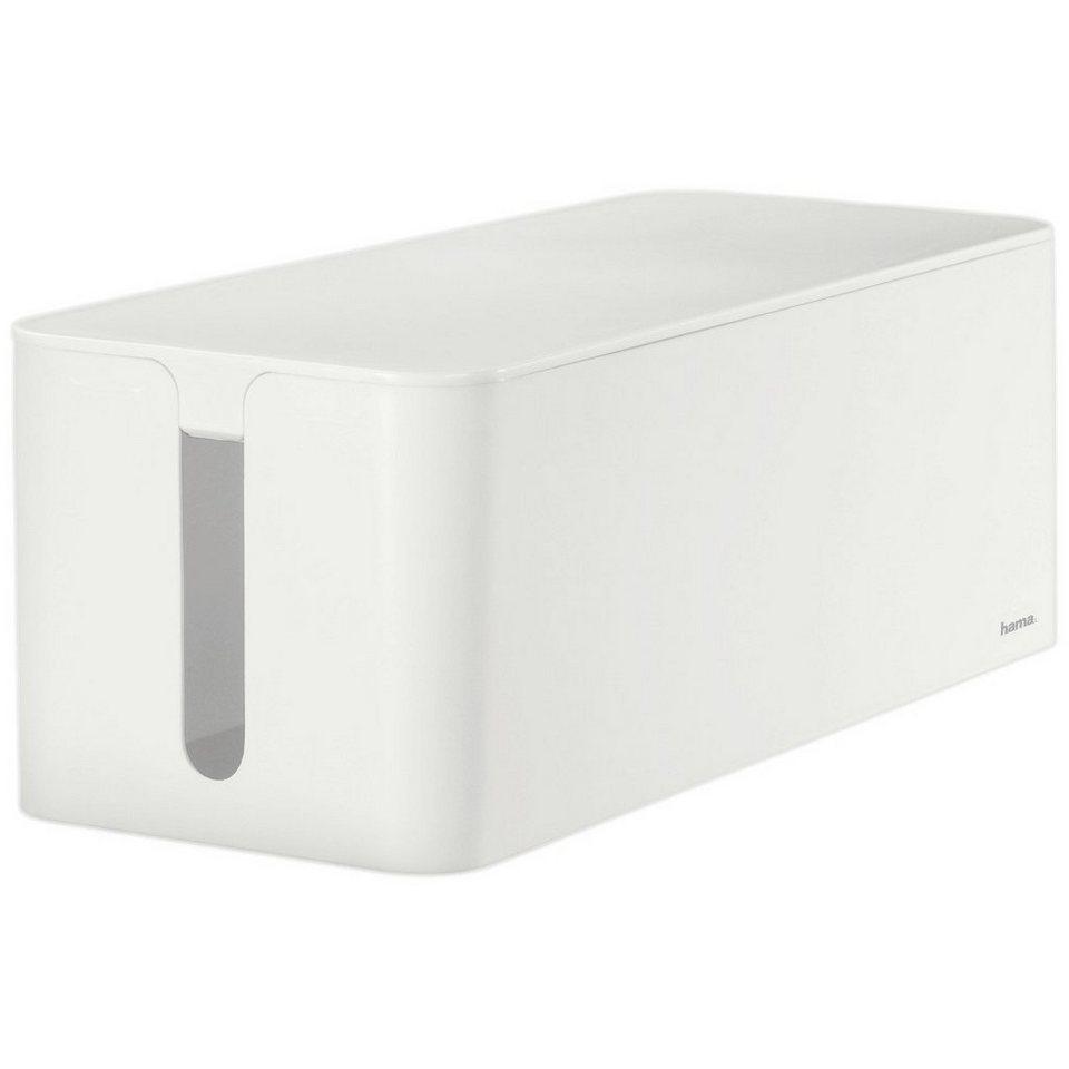 Hama Kabelbox Maxi, Weiß in Weiß