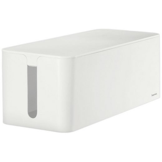 Hama Kabelbox Maxi, Weiß