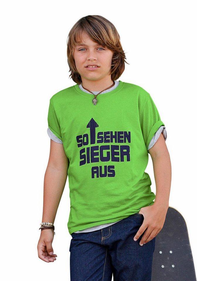"""CFL T-Shirt """"SO SEHEN SIEGER AUS"""" in grün"""