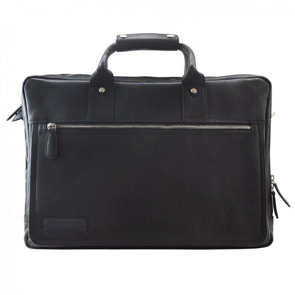 Plevier 270er Serie Aktentasche Leder 44 cm Laptopfach in schwarz