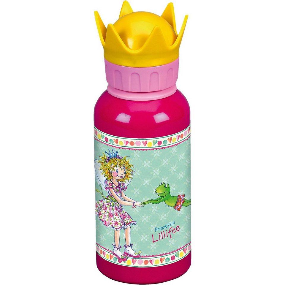 Spiegelburg Alu-Trinkflasche mit Kronendeckel Prinz. Lillifee (0,4 l) in pink+rosa