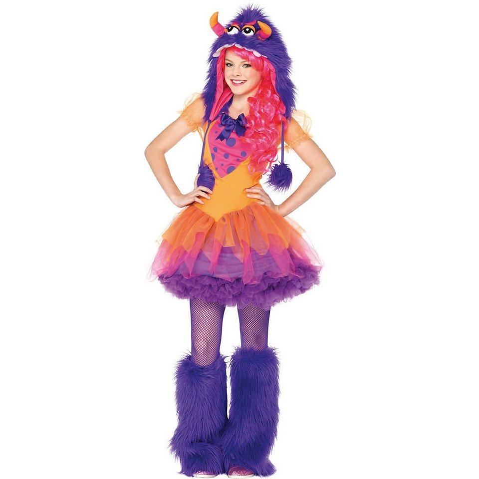 Maskworld Kostüm Grummel-Monster lila-pink (Teen)