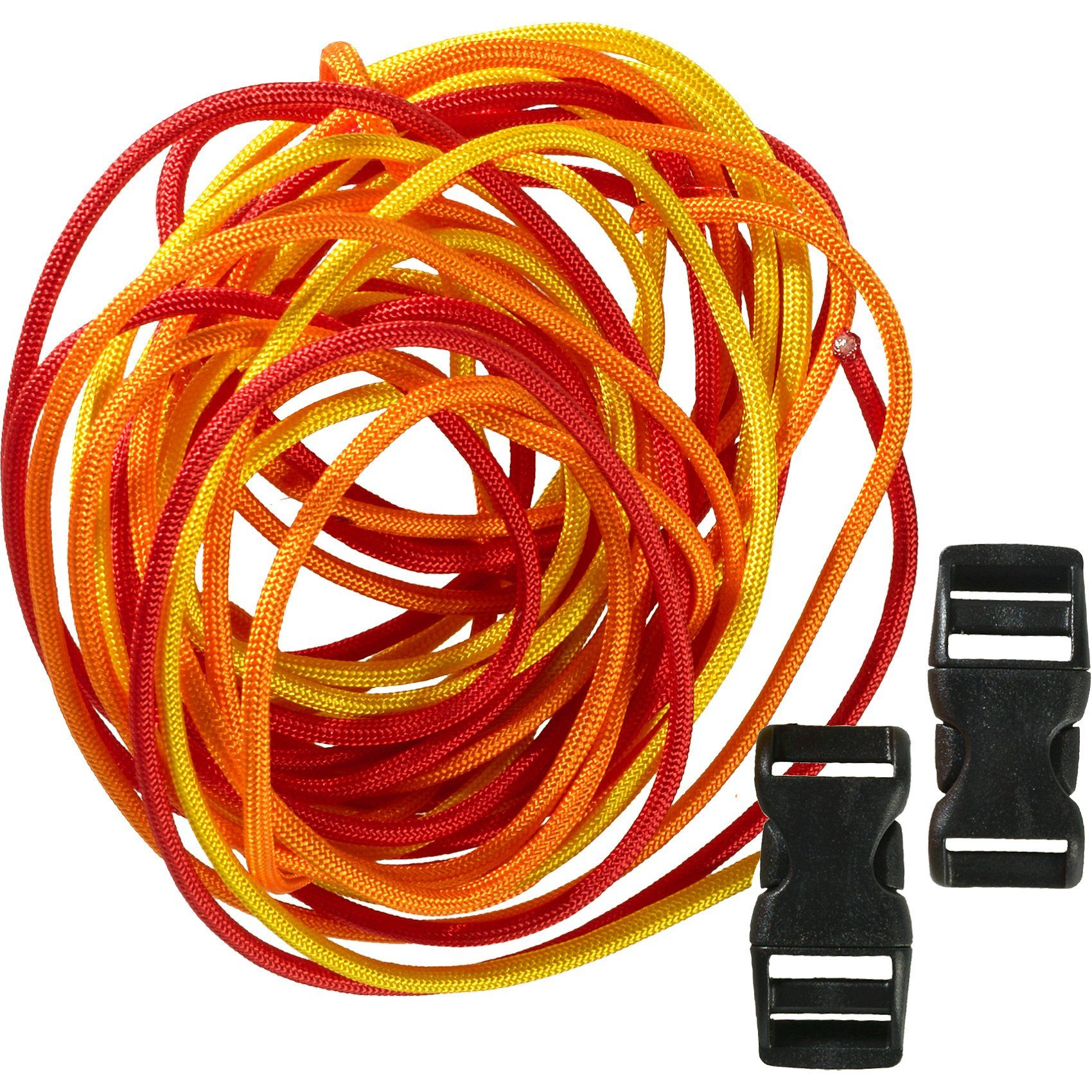 Hotex Kreativset Paracord gelb-orange-rot, 5-tlg.