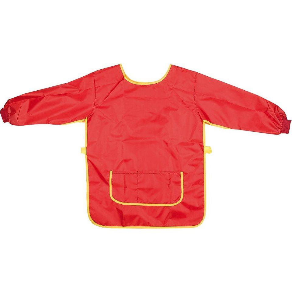 Idena Bastelschürze und Malunterlage im Set, rot