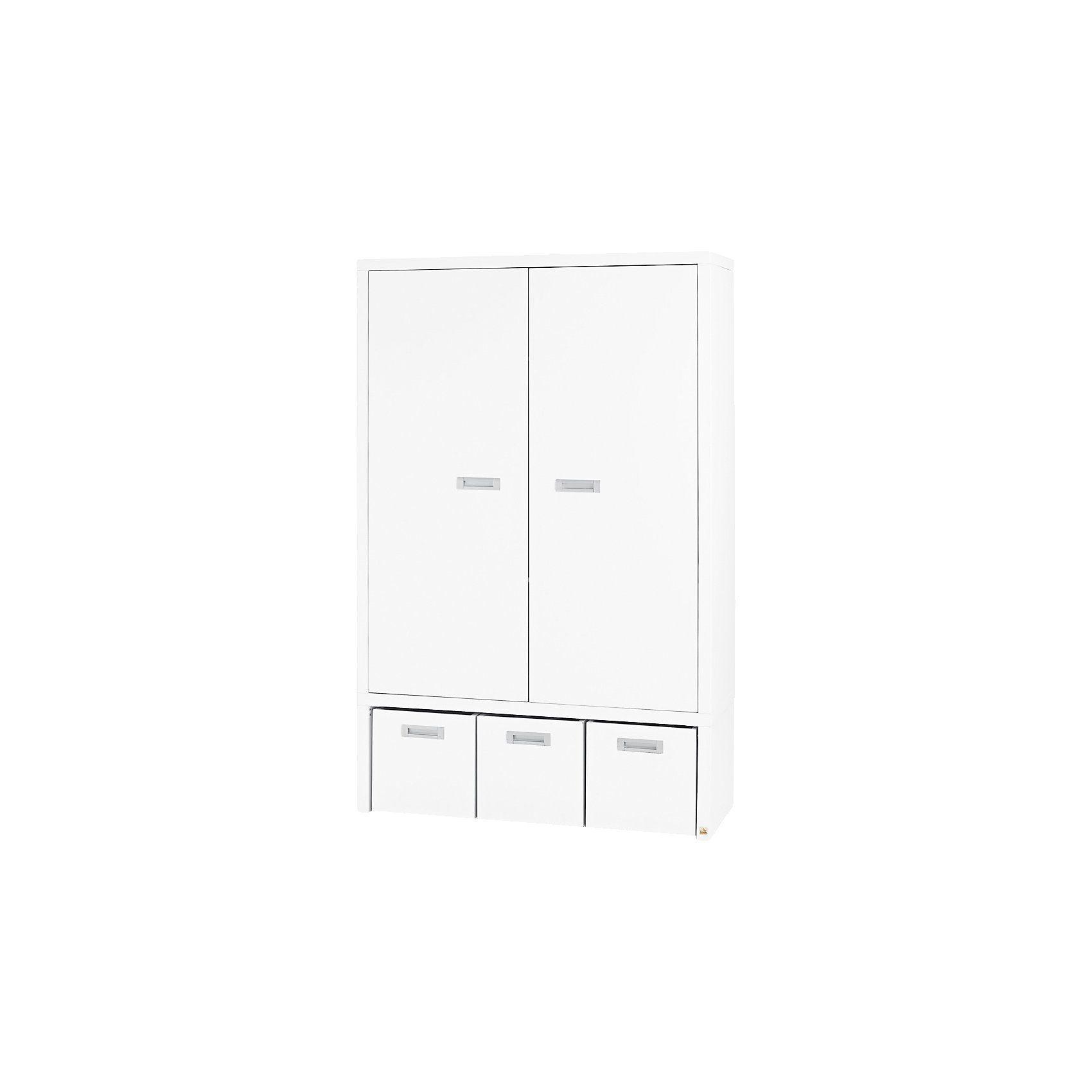 Pinolino Kleiderschrank ENZO 2-trg., weiß/bunt