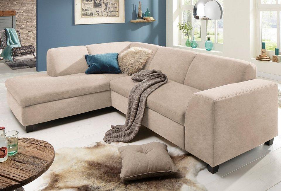 home affaire polsterecke aparo mit federkern und wahlweise mit bettfunktion online kaufen otto. Black Bedroom Furniture Sets. Home Design Ideas