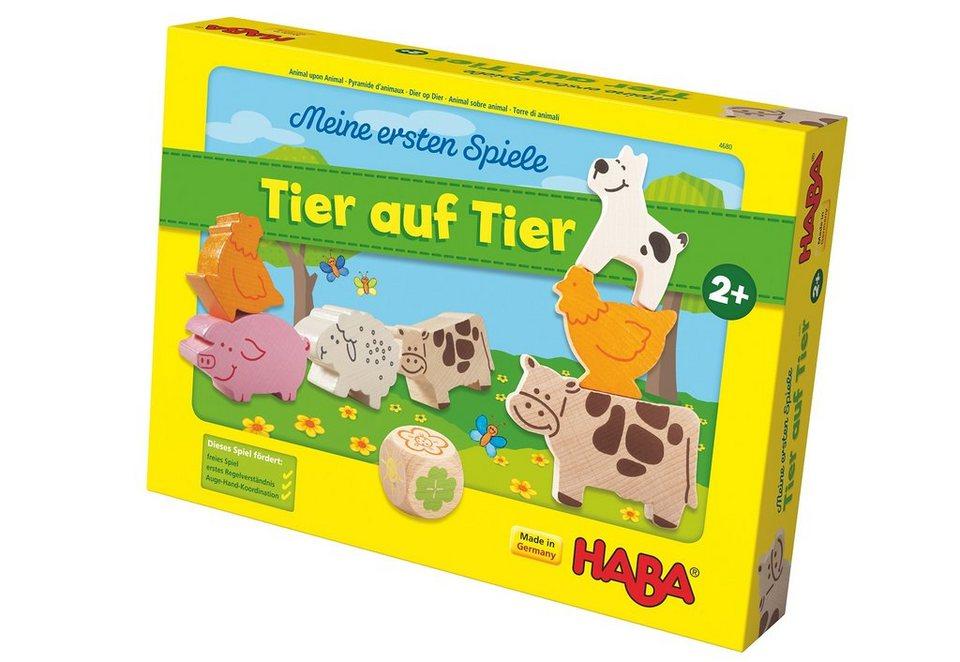 HABA® Kinder-Spiel, »Meine ersten Spiele - Tier auf Tier«