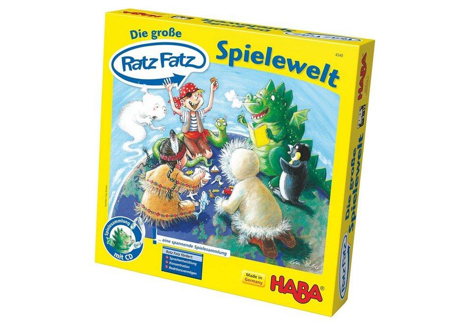HABA® Kinder-Spiel, »Die große Ratz Fatz Spielewelt«