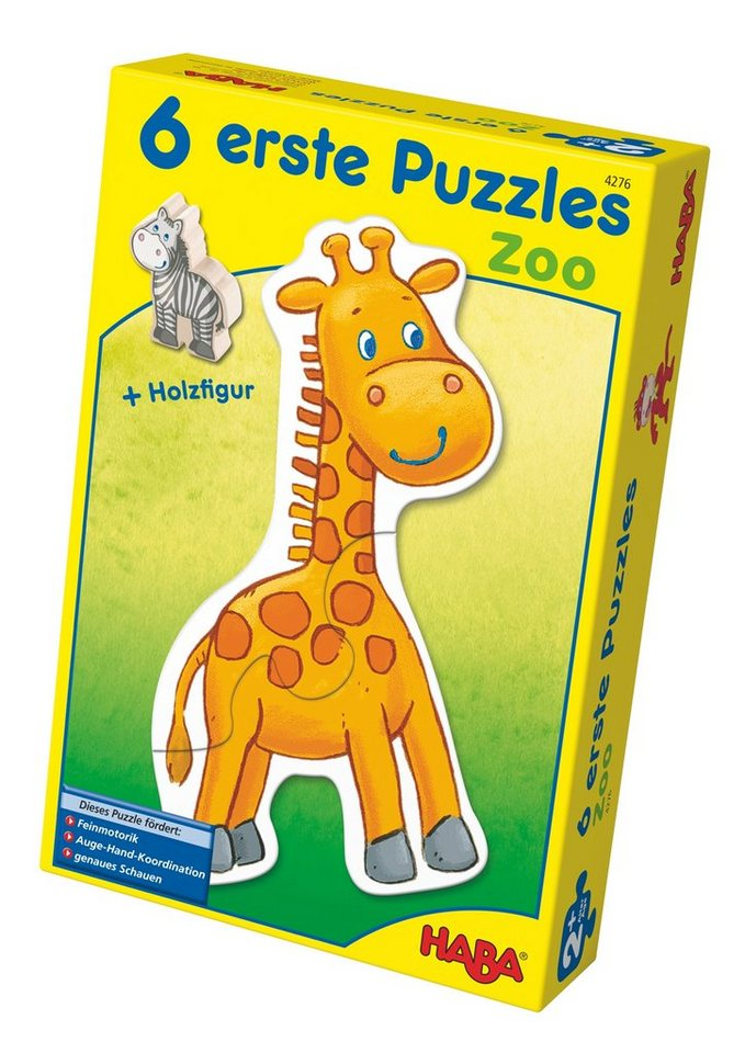 HABA® Holz-Puzzle, »Erste Puzzle - Zoo« in bunt