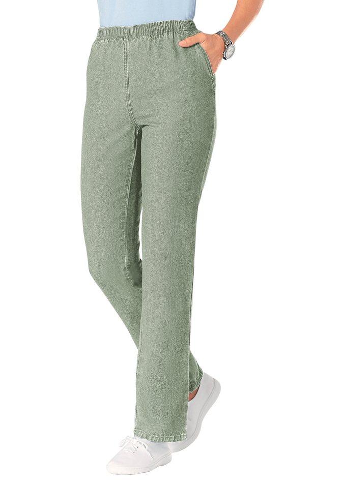 Classic Basics Jeans mit Rundum-Dehnbund in schilf